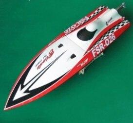 Barco de carreras de cohete de hoja afilada/Barco de gasolina 26CC-motor Zenoah imitado rojo