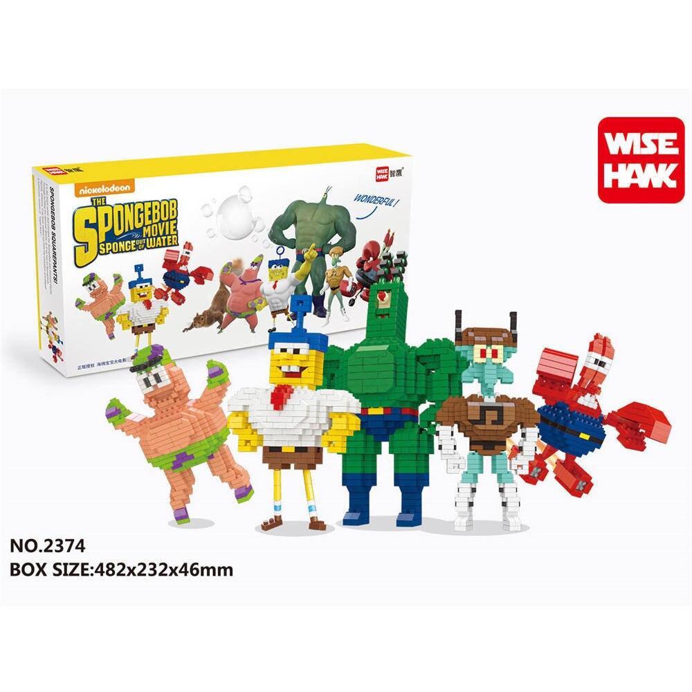 WISE HAWK Spongebob new blocks  star wars duplo lepin toys playmobil castle starwars orbeez figure doll car brick trespass highland