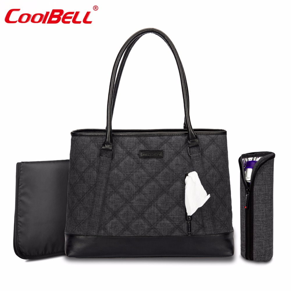 CoolBell Multifunction Mummy Bag Baby Diaper Tote Bag With Insulated Pockets Lightweight Nappy Bag Handbag Include Changing Pad