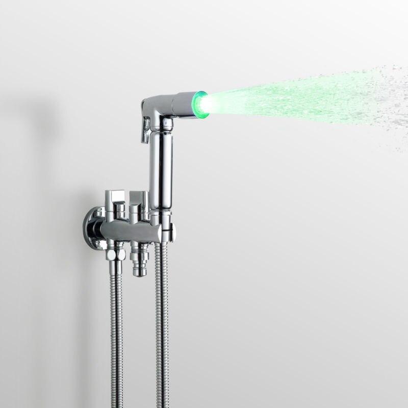 LED Jet De Douche Douche À Main Pistolet Bidet Siège De Toilette Furadeira Matkap Eau de Toilette