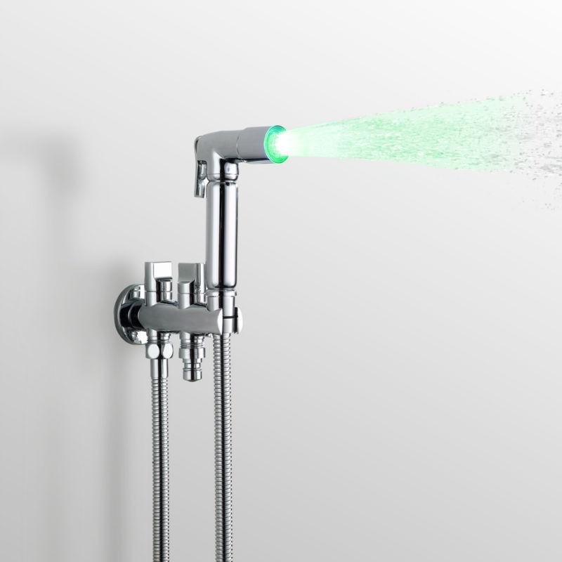 LED Shower Spray Hand Shower Gun Bidet Toilet Seat Furadeira Matkap Eau de Toilette classic gardenia by dana eau de cologne spray 5 oz package of 6