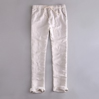 India And Brazil Style Elastic Waist Loose Pants Men Linen Breathable And Comfortable Cotton Trousers Men