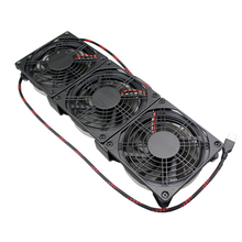 120mm external USB LED fan with silent operation for game cabinet entertainment center cooling, router, DVR, computer, Xbox