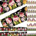 Beautiful Flower Decal Water Transfer Manicure Nail Art Stickers Tips Decoration 7H6M