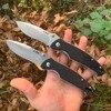 SANRENMU SRM 9011/9012 couteau pliant de poche 12c27 lame en acier inoxydable en plein air Camping survie Edc G10 couteau à fruits