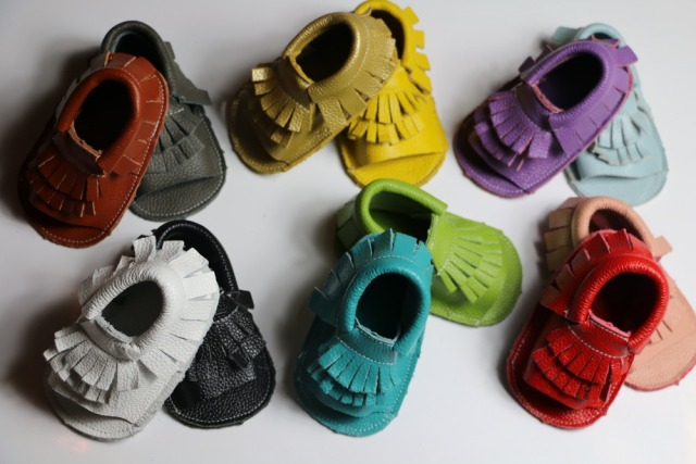 20colors gold silver pink  Genuine cow Leather baby moccs boys girls shoes First Walkers Toddler baby moccasins newborn Shoes