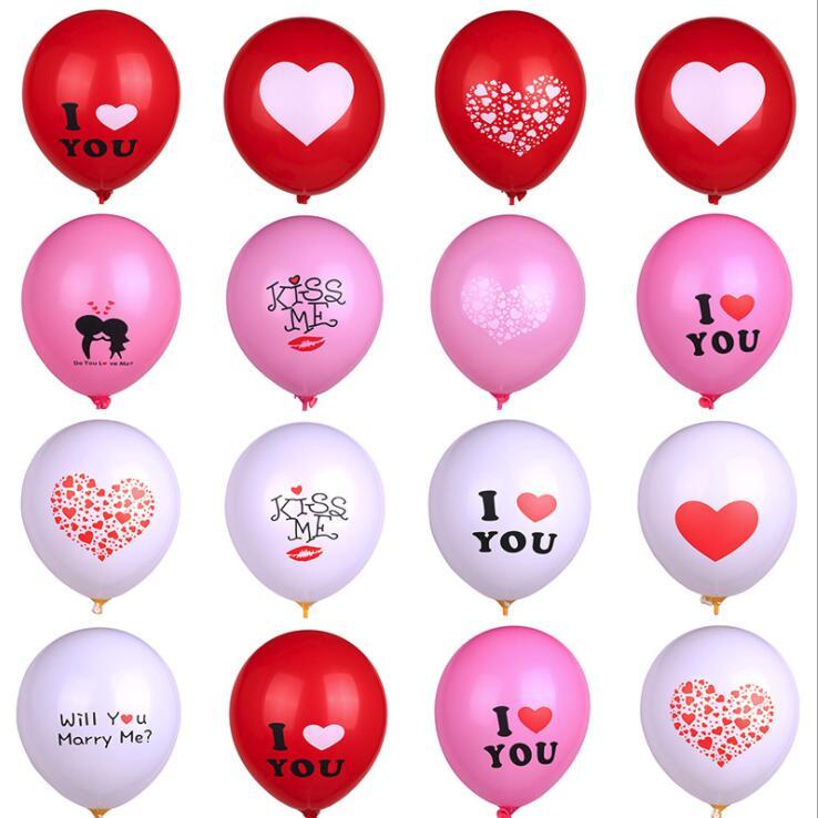 ZHEYIKE баллон латексные шарики с принтом Kiss Me/I Love You воздушные шары Свадьба Романтический брак предложение День Рождения Декор Globos