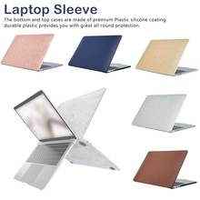 laptop Case For Apple Air Pro Retina 11 13.3 15.6 inch Frosted wood grain flash gold protective shell