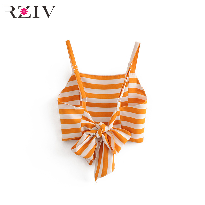 RZIV 2018 leisure suit female split design stripe bow belt decoration strap suit
