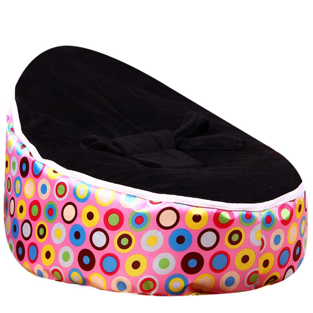 Levmoon Pink Circl Mediu Geantă Bean Geanta Scaun Pat copii pentru - Mobilier - Fotografie 4
