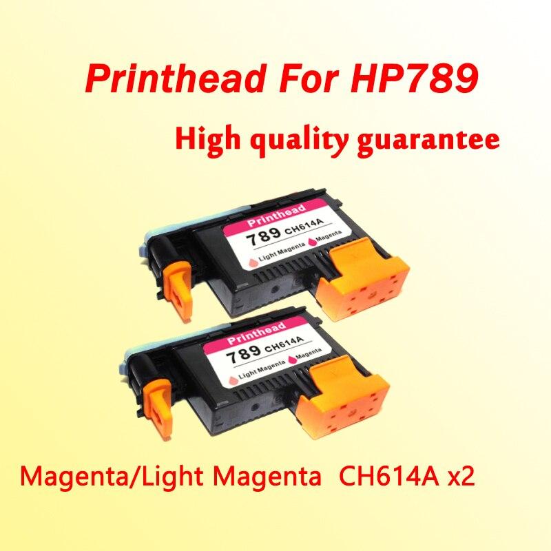 2x 789 print head CH614A Magenta/Light Magenta printhead for hp789 L25500 printer картридж для принтера hp 789 light magenta magenta designjet printhead