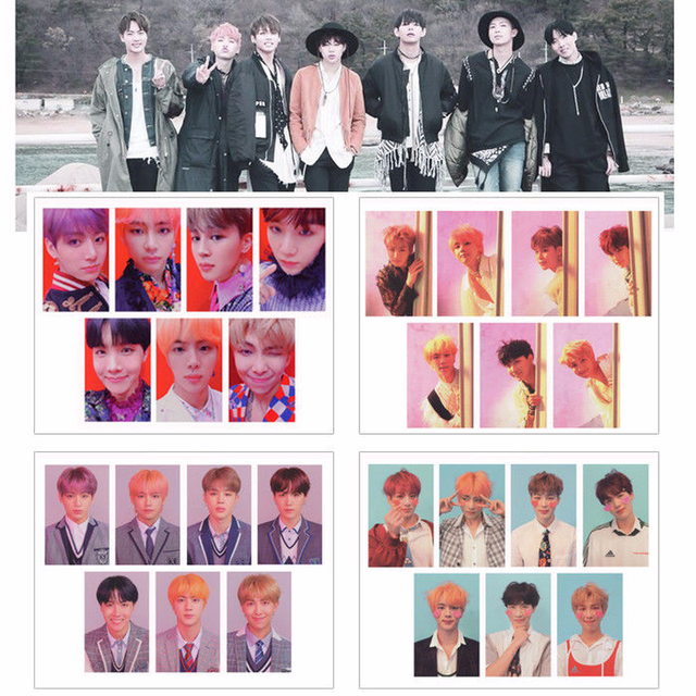 7 Pcs/Set KPOP BTS Bangtan Boys LOVE YOURSELF ANSWER Album Lomo Card  Photocard 2018 New