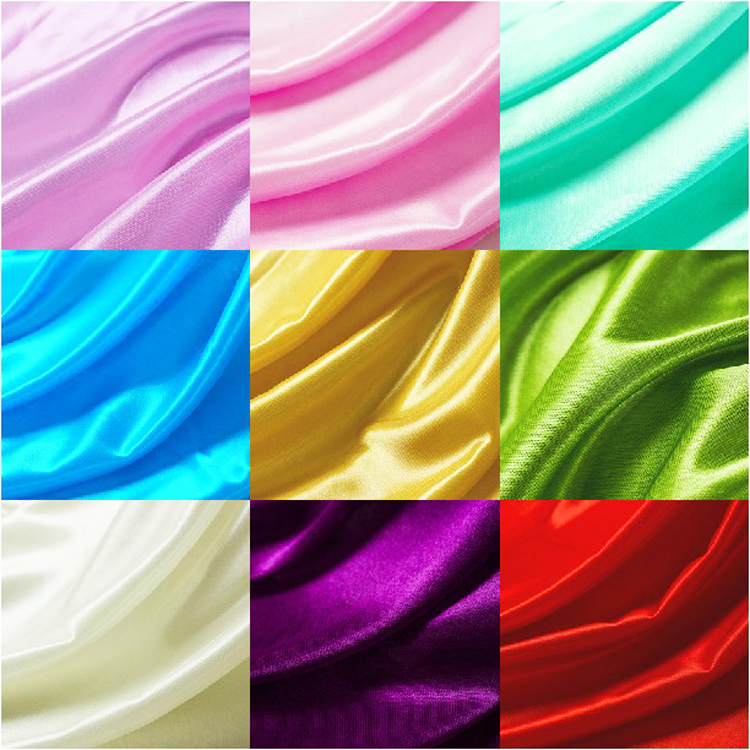 Wholesale 10m 1 5m Wide Ice Silk Shine Fabrics Wedding Birthday Party Decor Satin Fabric DIY