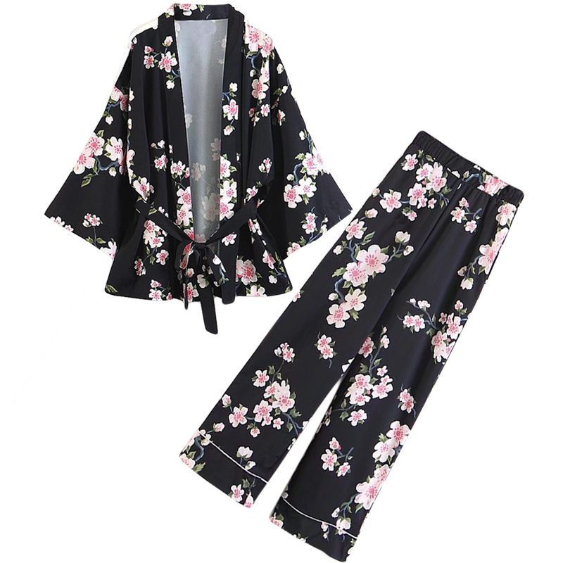 Jackets & Coats Hot Sale Djf48-8222 European And American Fashion Orientation Printed Long Kimono