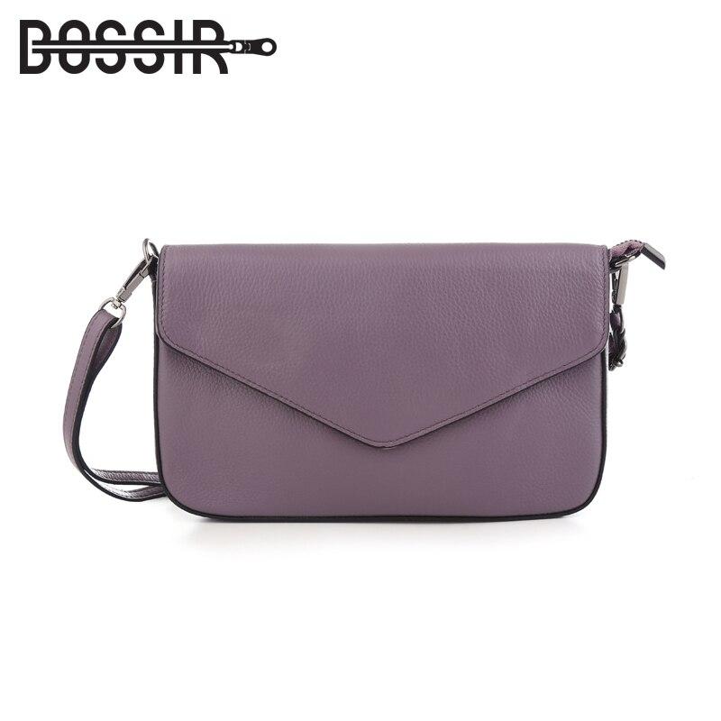 Из натуральной кожи Для женщин Курьерские сумки конверт Обложка Твердый Цвет Мода маленькая сумка через плечо сумки на плечо клатч