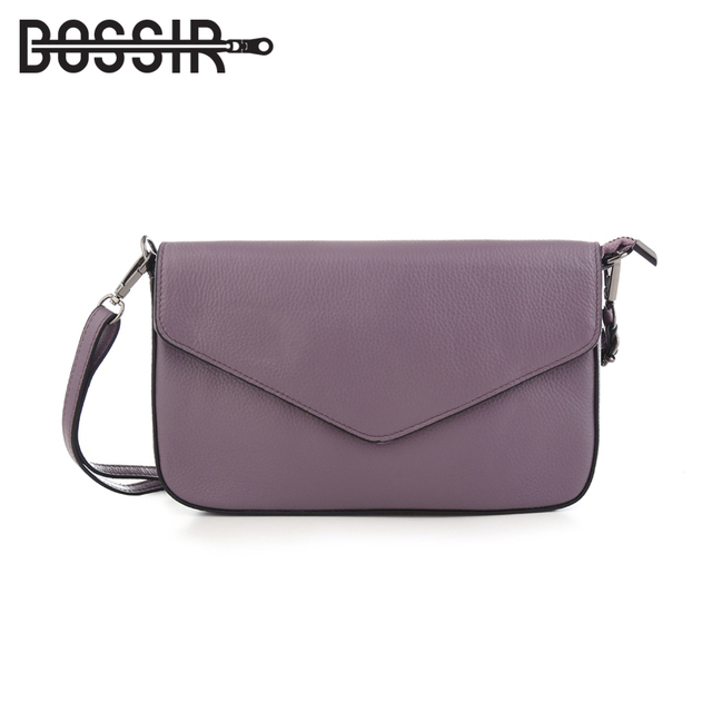 Genuine Leather Women Messenger Bags Envelope Cover Solid Color Fashion  Small Crossbody Bag Shoulder Bags Clutch 0b625f5803324
