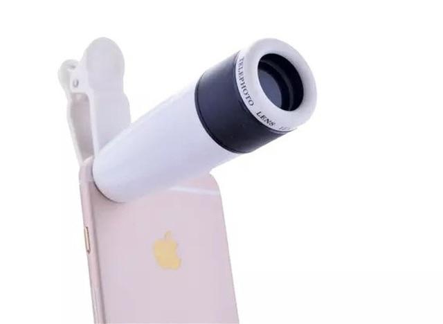 Универсальный Зажим 12X Зум Телескоп Мобильного Телефона Объектива Телеобъектив Для HTC 10 evo Болт, Sharp Z2, Meizu Pro 6 s, LeEco Le S3