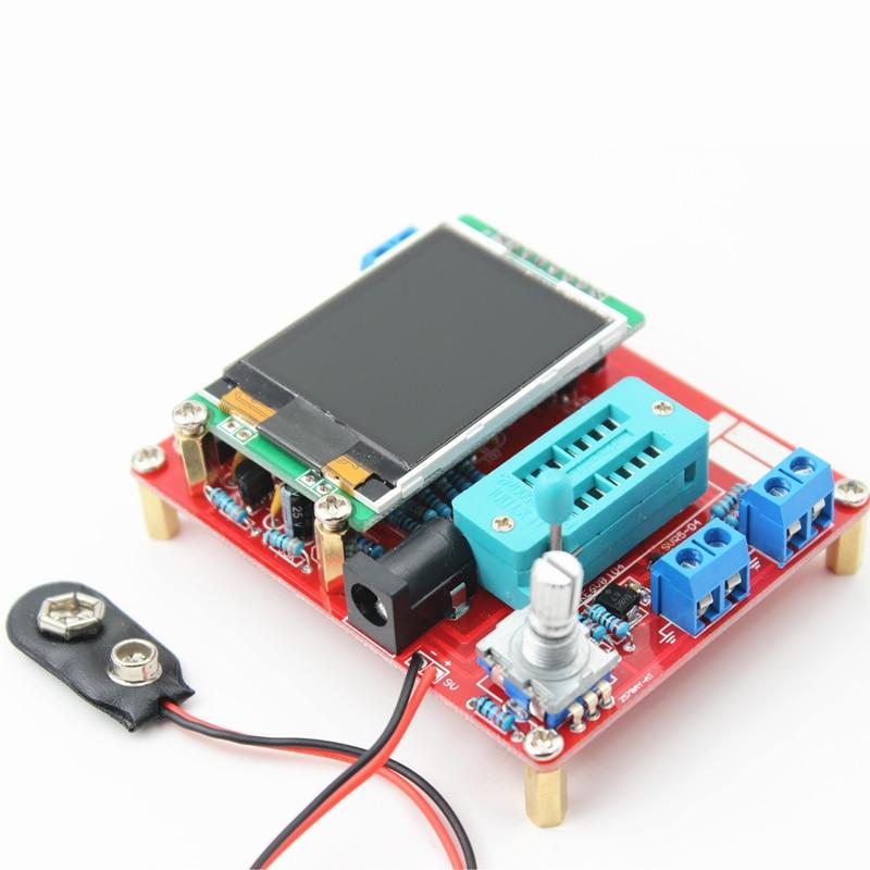 Tester multifuncional GM328 Transistor Tester diodo capacitancia ESR frecuencia del voltaje PWM generador de señal de onda cuadrada