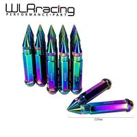 WLRING-120mm Chiều Dài NEO CHROME 20 CÁI NHÔM MỞ RỘNG TUNER WHEEL LUG NUTS VỚI SPIKE CHO BÁNH XE/RIMS M12X1.5 WLR-LM1215CR