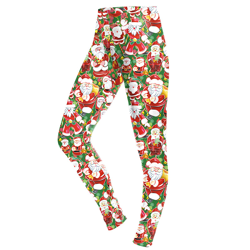 547e6d1872663 Christmas Lucky Style Stretchy Pants Leggings Sexy Santa Claus Printed  Workout Clothes For Women Fitness Leggins New Year Gift-in Underwear from  Mother ...