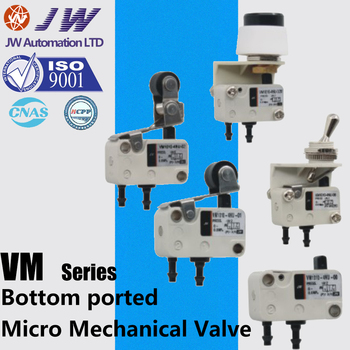 Micro Mechanical Valve 2/3 Port VM1010-4NU-00 01 02 32R 32G 32B VM1010-4N-00 01 02 32R 32G 32B Mini Hand Valves Bottom ported