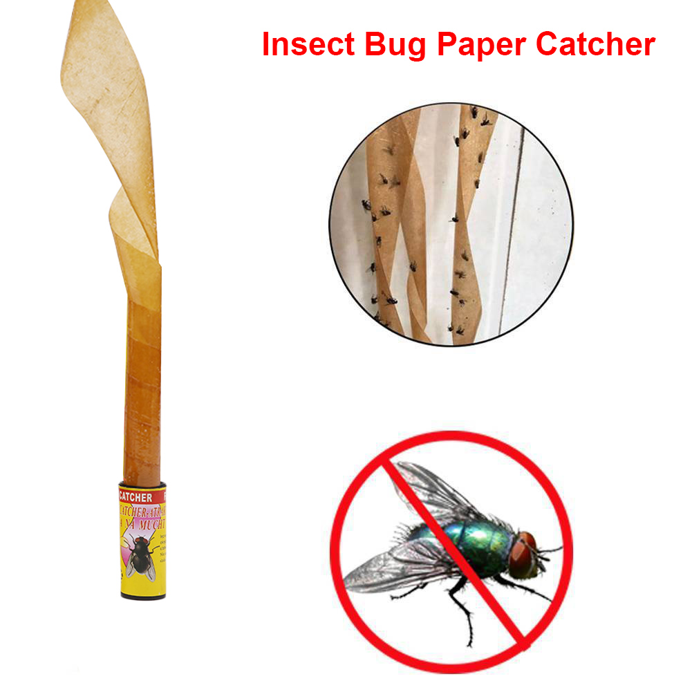 Strip Trap 16pcs Insect Bug Fly Glue Paper Tape Trap Ribbon Strip Sticky Non Toxic Flies Catcher Best Price