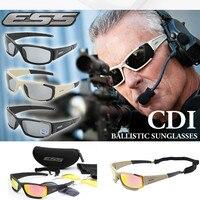 2017 Original Polarized ESS CDI ROLLBAR Sunglasses Men UV400 4 Lenses Goggles Tactical Glasses With Case