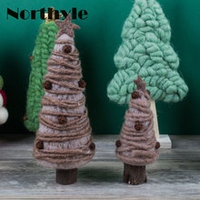 Original Dream House DH BS163227 Fantasy Christmas tree figurine wool xmas tree miniature christmas decoration christmas gift