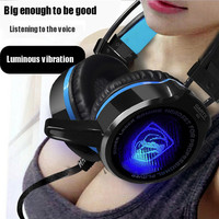 Yangmaile 3.5mm Wired Luminous Gaming Headset Big Headphones With Microphone For PS4 PC Laptop Phone For ios Andrid Windows A30