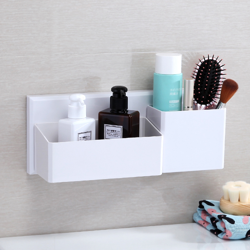Bathroom shelf free punch toilet suction cup rack bathroom toilet vanity storage rack wall mount LO515504