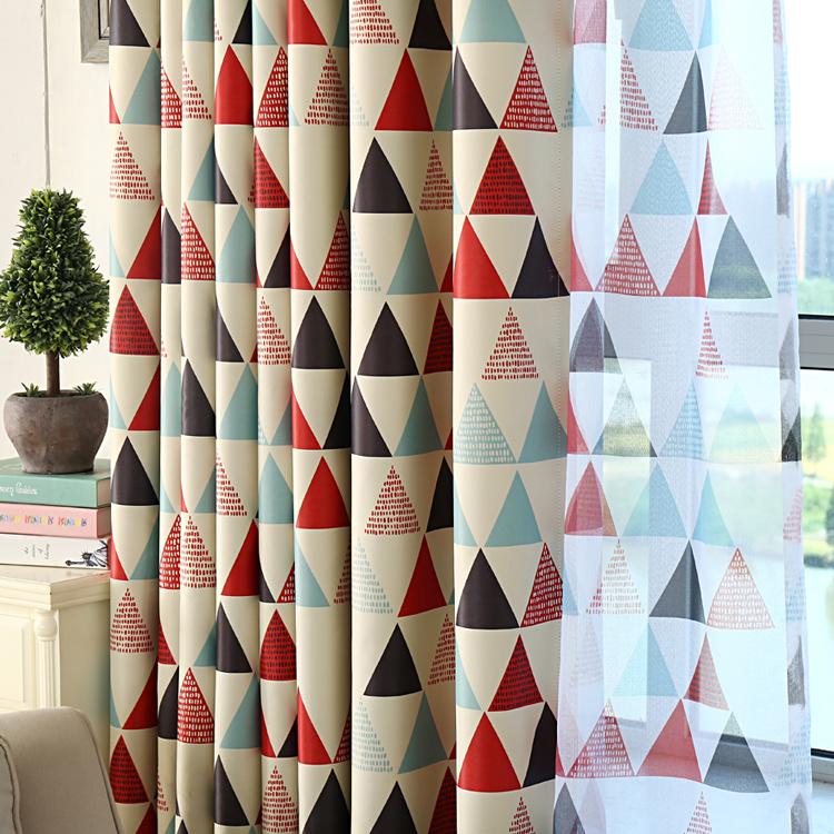 geomtrica cortinas oscuras para los nios trigon apagones soap cortinas de la ventana nios cortinas para