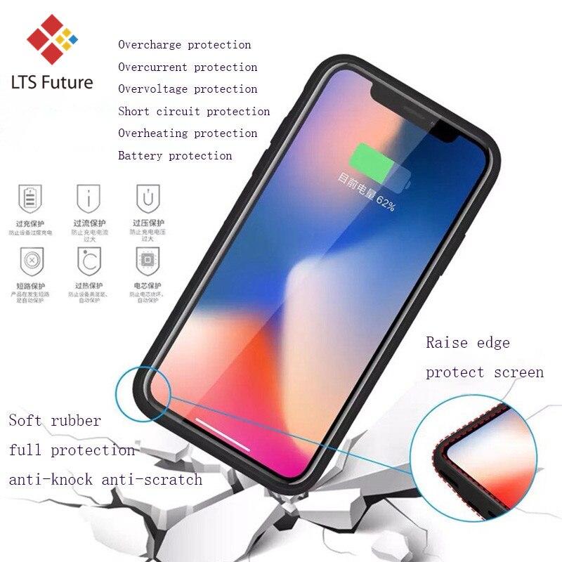 Высококачественный внешний чехол-батарея для телефона для Iphone Xs Max Xr X портативный резервный блок питания чехол перезаряжаемый тонкий аудио