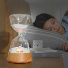Hourglass with sleep light creative led, time hourglass touch sensor timing