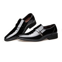 2018 New Fashion Business Men Leather Shoes Non slip Fashion Formal Flat Pointed Toe Casual Shoes WML99