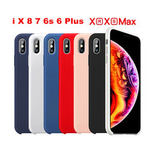 Original Liquid Silicone Case For iphone 7 case cover for iPhone X XS MAX XR apple 6 6s 8 plus Plus