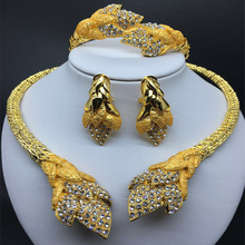 Wedding Golden Jewelry Wholesale New Fashion Dubai gold Jewelry Sets Elegant line Jewelry Sets Nigerian African Beads Design 18 rows statement african beads jewelry sets nigerian wedding coral jewelry sets african jewelry sets w8291
