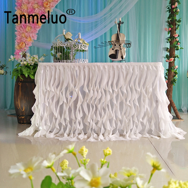 Ordinaire 0.8x3M Wedding Table Skirts Elegant And Luxury Table Skirt For Wedding  Deocration Supplies Party Table