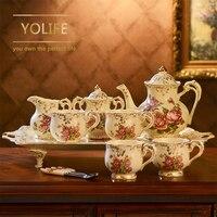 Ev ve Bahçe'ten Çay Takımı Setleri'de Çin seramik demlik seti güzel porselen kahve yaratıcı demlik fincan seti hediye