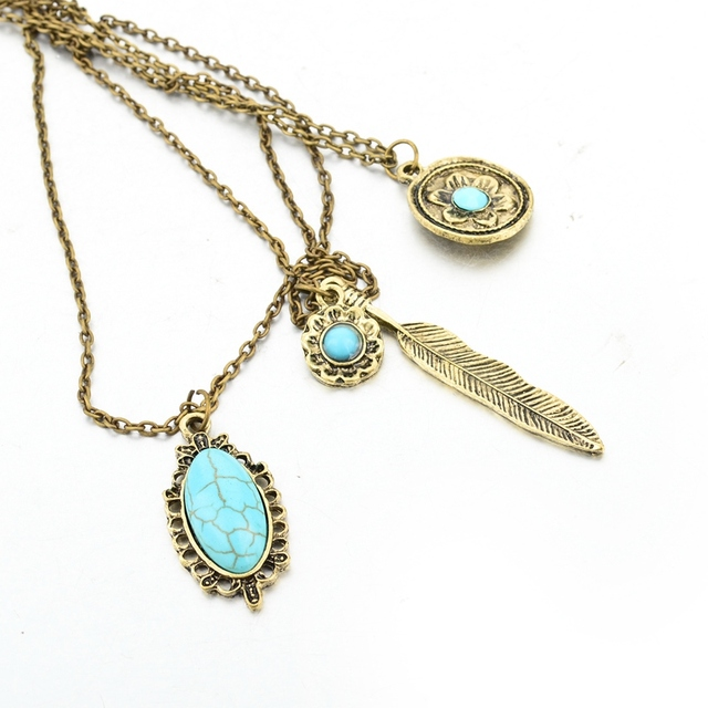 Chicvie винтажные простые Цветочные античные ожерелья с листьями