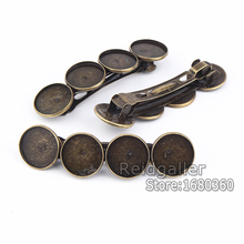 10pcs/lot Blank Hair Clip Cabochon Settings 20mm Round Metal Alloy Base diy Hair Jewelry findings