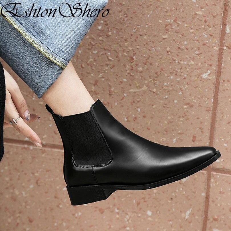 6bb6512d5 Zapatos Mujer Pu Cuero Botas Negro red 8 Estrecha Bajo Tobillo Plataforma  Tacones Eshtonshero Mujeres Tamaño Brown brown Punta Moto Señoras 3 0YnS8Xx