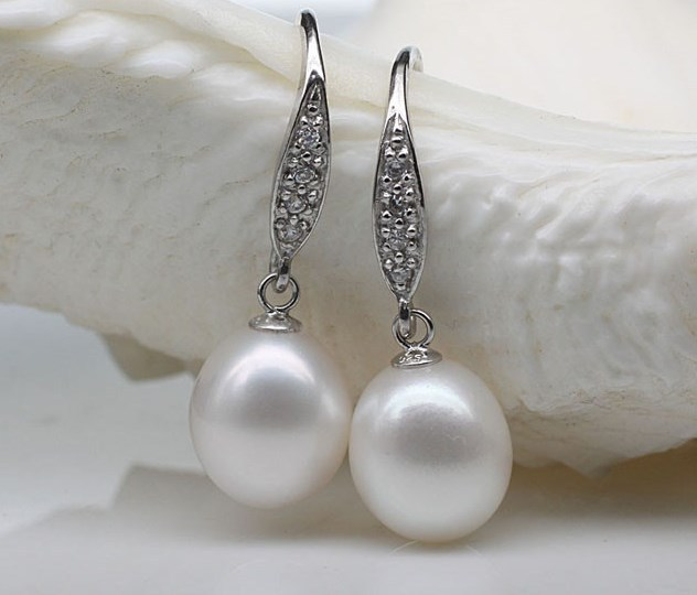 Fashion Natural Real Genuine Fresh Water Pearl Earrings Drop Jewelry S Women Female Jewellery In From Accessories On