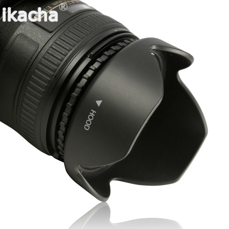 New 49 52 55 58 62 67 72 <font><b>77</b></font> 82mm Reversible Petal Flower <font><b>Lens</b></font> Hood for Canon Nikon Sony Pentax DSIR Camera image