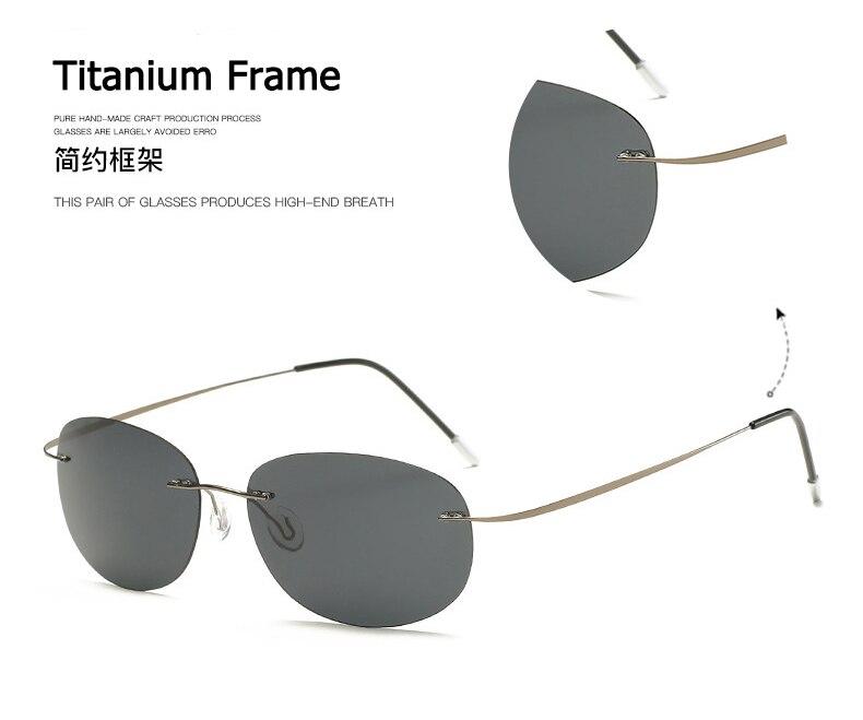 Polarisé Homme SILHOUETTE lunettes de soleil Titane Lunettes de conduite Square Eyewear