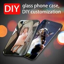 Realme X For OPPO Case DIY Tempered Glass case Hard Back Cover realme x Coque Fundas Soft Bumper Para