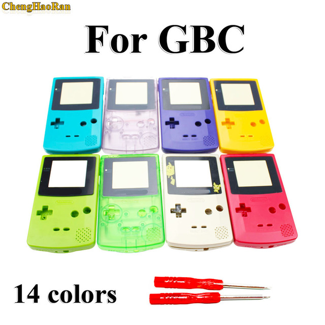 ChengHaoRan 1 set For GBC Limited Edition Shell Replacement For Gameboy Color GBC game console full housing