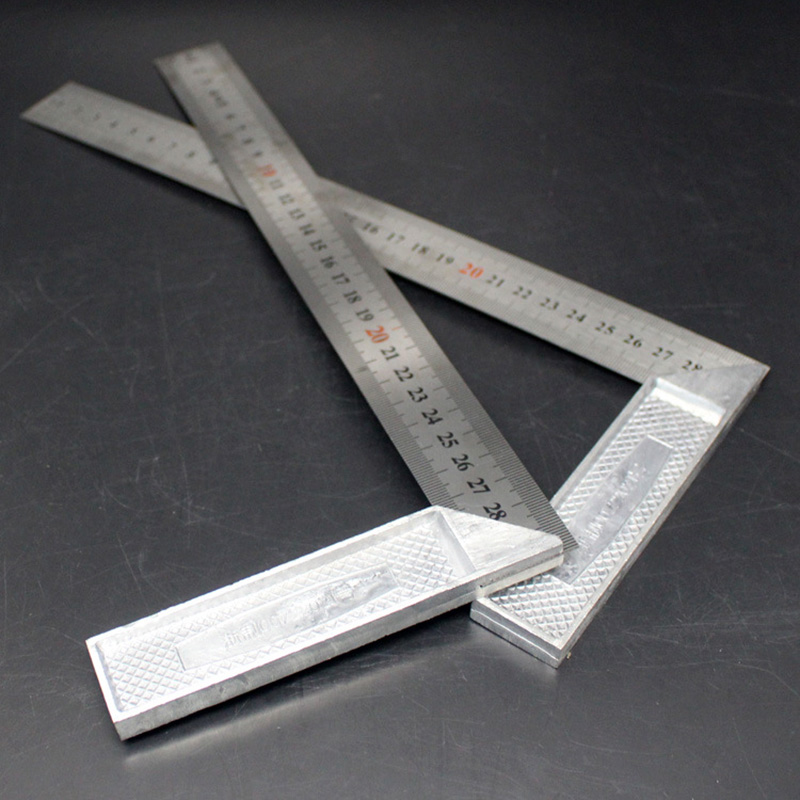 50 60cm Steel Ruler 90 Degree Angle Metric Rulers Supplies Woodworking Carpentry Measuring