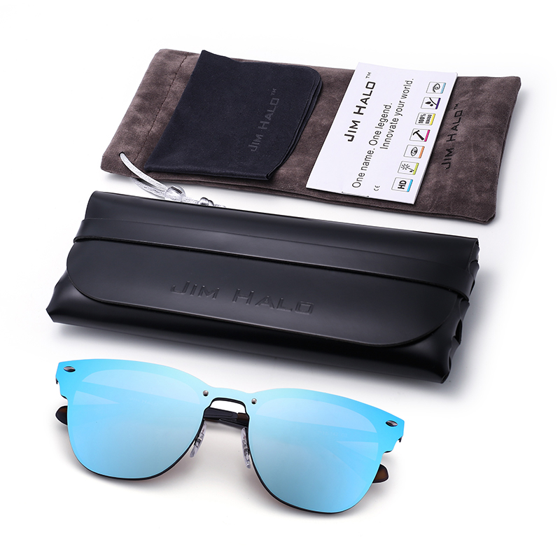 Frameless Blue Sunglasses