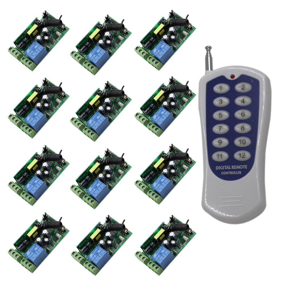 цена на AC 85V~250V 110V 220V 250V 1CH RF Wireless Remote Control System / Radio Switch Remote Control Switch Learning Code Receiver
