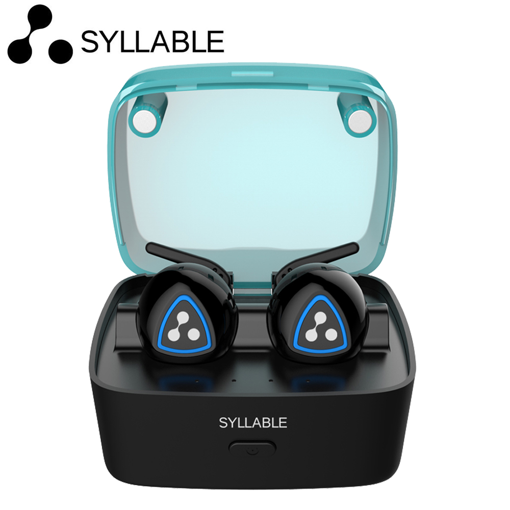 Syllable D900S In-Ear Earphone Wireless Bluetooth 40 Apt-x IPX4 Waterproof Earbud Earphone Sports for Android Phone IOS